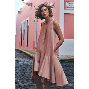Anthropologie Maeve Camellia Drop Waist Dress